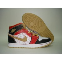 Air Jordan 1 XQ China White Gold Dust Sport Red Black