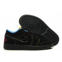 Air Jordan 1 Low Phat Black Green Bean Varsity Red New Blue