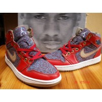 Air Jordan 1 Levi's Strauss Denim Fire Red Cement