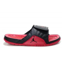 Air Jordan 12 Black Red Sandals