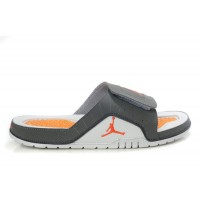 Air Jordan 12 Cool Grey Orange Sandals