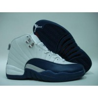 Air Jordan 12 Retro White French Blue Metallic Silver Red