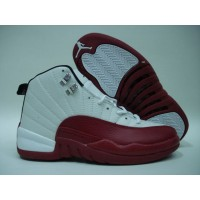 Air Jordan 12 Retro White Varsity Red Black