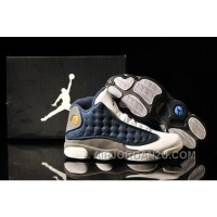 Air Jordan 13 White Navy Blue Grey For Sale