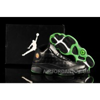 Air Jordan 13 Black Green For Sale