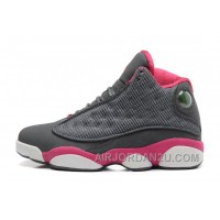 Womens Air Jordan 13 GS Retro Cool Grey/Fusion Pink-White For Sale ATpBna