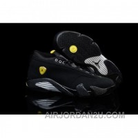 Air Jordan 14 Retro Low Black Suede Ferrari Cheap