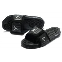 Jordan 14 Black Stealth Sandals