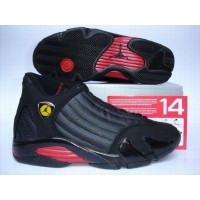Air Jordan 14 Retro Last Shot Black Varsity Red