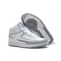 Air Jordan 2 Retro White Metallic Silver Natural Grey Cheap