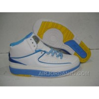 Air Jordan Retro 2 Melo White University Blue Varsity Maize Online