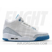 WS Air Jordan Retro 3 White Harbor Blue Boarder Blue 315296-142 New Style D7eFSQa