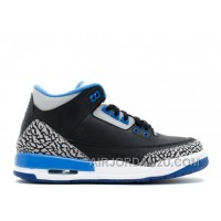 New Air Jordan 3 Retro Bg Girls Sport Blue Sale