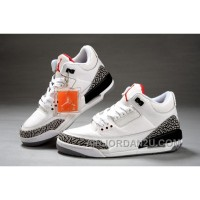 Air Jordan 3 Retro White Cement Grey Fire Red New