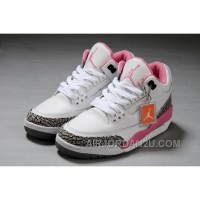 Air Jordan 3 White Pink Girls Size Authentic