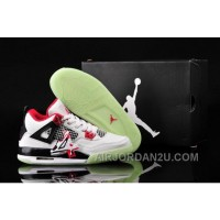 New Arrival Uk Nike Air Jordan Iv 4 Retro Glowing Womens Shoes On Sale White Red