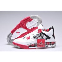 New Arrival Greece Nike Air Jordan 4 Iv Free Womens Shoes White Black Red