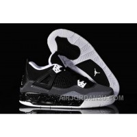 For Sale Netherlands Nike Air Jordan 4 Iv Oreos Womens Shoes Black Grey