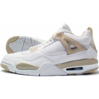 Air Jordan 4 Retro Womens White Boarder Blue Light Sand