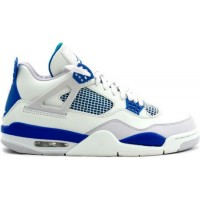 Air Jordan 4 Retro Military Blues White Military Blue Neutral Gr