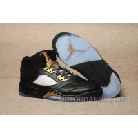 2017 Mens Air Jordan 5 Olympic Black/Metallic Gold For Sale Cheap