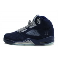 Air Jordan 5 Retro Suede Midnight Navy Grey