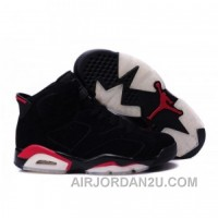 Air Jordan 6 Suede Leather Black For Sale