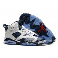 "New Arrival 2017 Mens Air Jordan 6 ""Olympic"" White/Midnight Navy-Varsity Red For Sale"