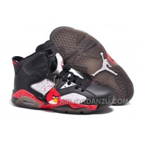 "Cheap New Air Jordan 6 Retro Custom ""Angry Birds"" Black-White/Red Specked"