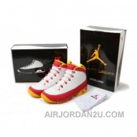 Air Jordan 9 Retro White Mustard Yellow Red For Sale
