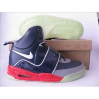 Air Yeezy Deep Navy Grey Red