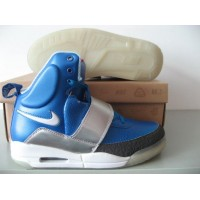 Air Yeezy Blue White Silver