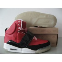 Air Yeezy Red Black Patent White