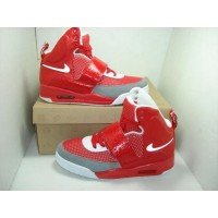 Air Yeezy Red Grey White
