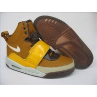 Air Yeezy Brown Yellow Patent