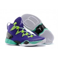 "Online Air Jordans XX8 SE ""Mardi Gras"" Russell Westbrook PE Court Purple/Black-Flash Lime"