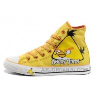 Yellow Angry Birds CONVERSE All Star Chuck Taylor High Top Shoes For Sale WNdCQ