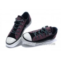 Leather CONVERSE All Star Purple Black Tonal Stitching Tops Trainer For Sale EP55P