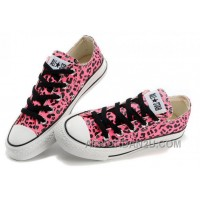 CONVERSE Leopard Womens All Star Shoes Red Black Print Chuck Taylor Tops Canvas For Grils Free Shipping Kbicp
