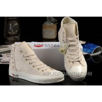 Ultimate Edition CONVERSE White Comme Des Garcons Play Chuck Tayloar All Star Beige Canvas Sneakers For Sale HbXJe