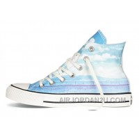 Blue High CONVERSE Chuck Taylor All Star Photo Real Sunset Print Shoes For Sale SHjBc