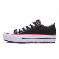 Black CONVERSE Platform All Star Chuck Taylor Women Shoes Free Shipping E7xZX