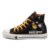 CONVERSE Angry Birds Black High Tops Chuck Taylor All Star Canvas Shoes Online Cdtzy