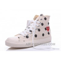 White High CONVERSE Comme Des Garcons Polka Dot Play Chuck Taylor Free Shipping 4EbMb