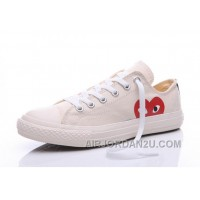 CONVERSE White Comme Des Garcons Play Chuck Taylor Sneakers Cheap To Buy JYJFe