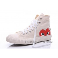 White CONVERSE Comme Des Garcons Play Chuck Taylor Hi Sneakers Discount Ip3Kr