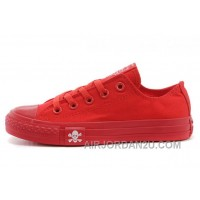 CONVERSE All Red All Star Skull Canvas Chuck Taylor Sneakers Lastest HwCSS