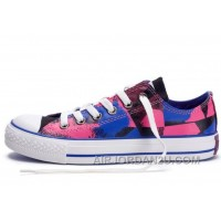 CONVERSE Dazzling Chucks Spray Painting Multi Color Red Blue Black All Star Canvas Tops Shoes Discount XKBS5