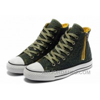 Unisex CONVERSE Leopard Zipper Olive Chuck Taylor All Star High Ps Canvas Shoes Cheap To Buy MtefF