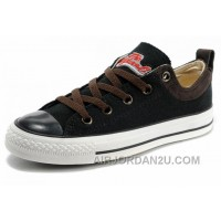Cool CONVERSE Black S Embroidery Chucks All Star Canvas Brown Suede Easy Slip Top Deals KEE2n